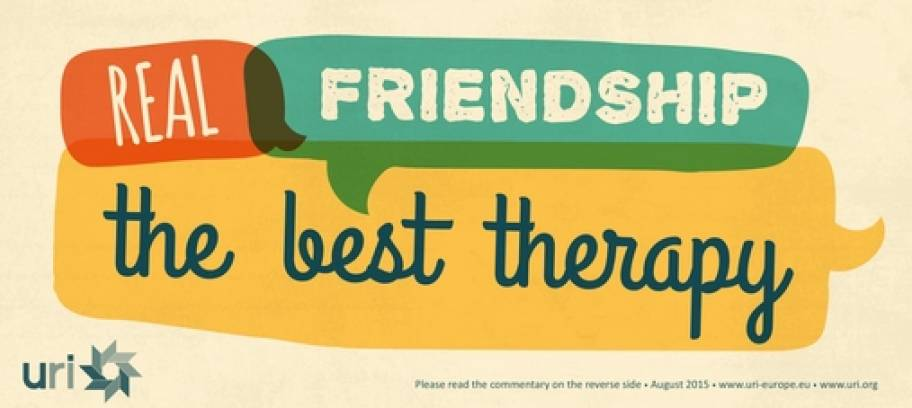 Real Friendship - The Best Therapy - URI Europe Proverb for August