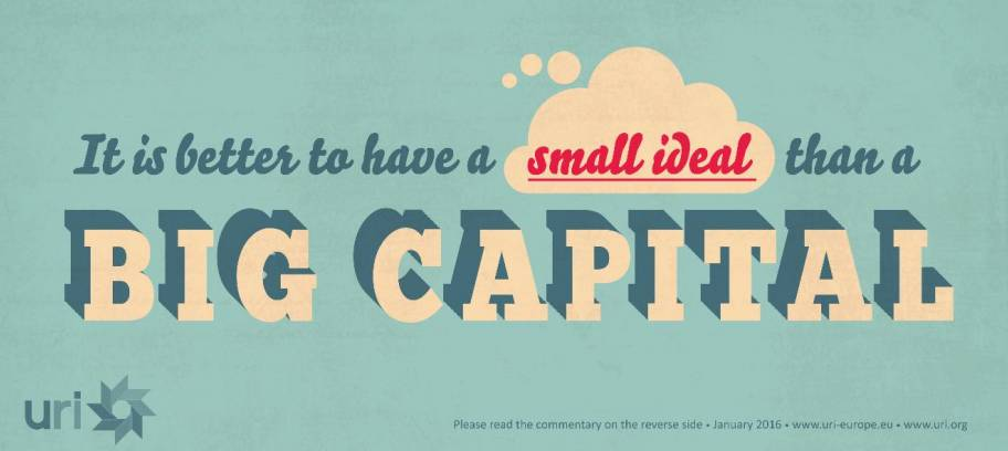It is better to have a small ideal than a big capital