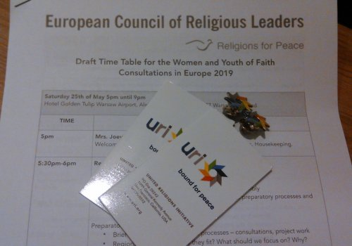 URI Europe at Religions for Peace Woman and Youth of Faith consultations