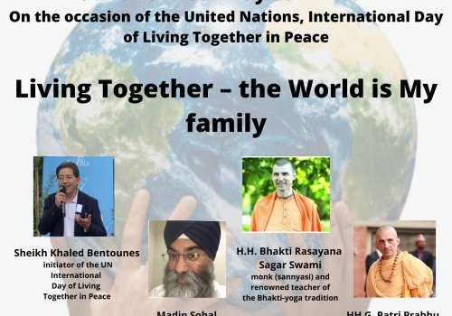 """Webinar""""Living Together – The World is My Family"""""""