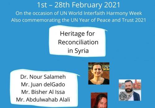Heritage for Reconciliation in Syria - Baraza-URI Europe webinar series