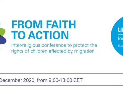 URI Europe representative at Faith to Action conference organized by UNICEF