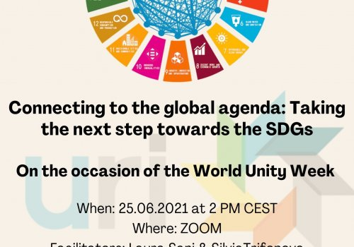 Connecting to the global agenda: Taking the next step towards the SDGs