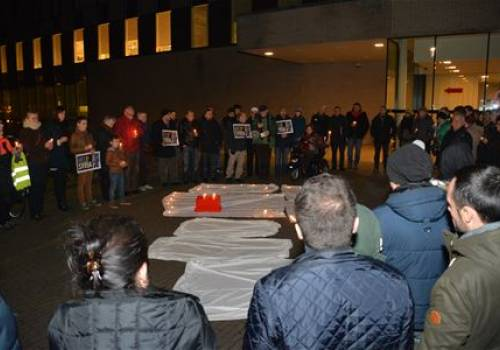 70 participants in peace vigil for Syria in Belgium