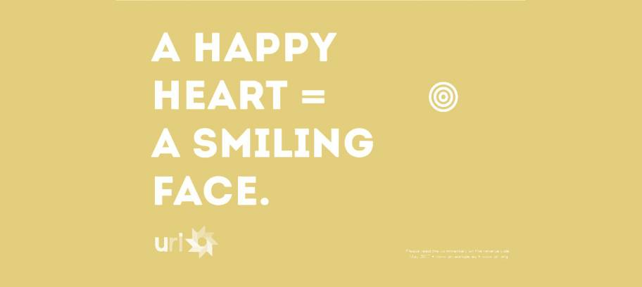A happy heart = a smiling face