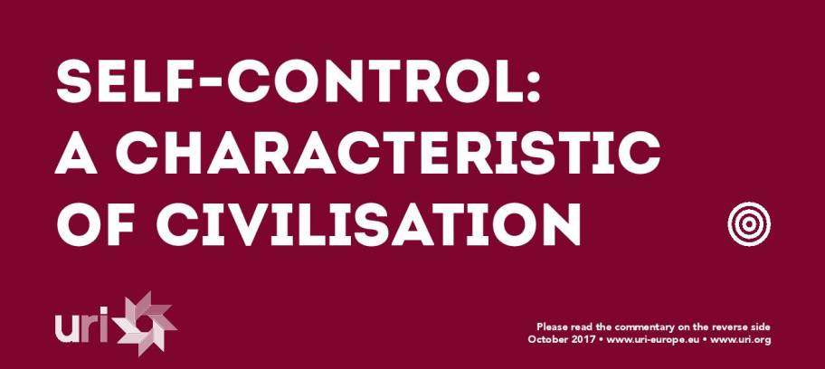 Self-control: a characteristic of civilisation