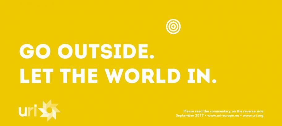Go outside. Let the world in.